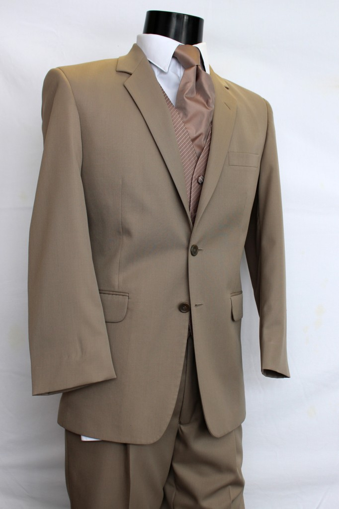 Tan 2 button Suit