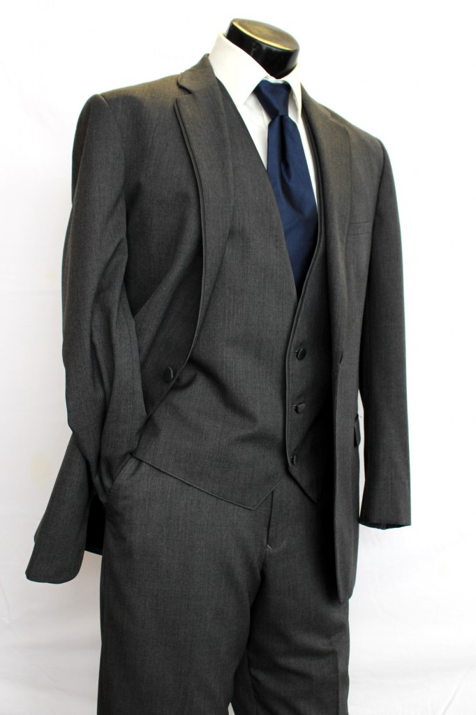 Steel Grey Allure 2 button Notch Lapel