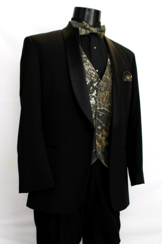 Black Shawl Lapel 1 button Tuxedo