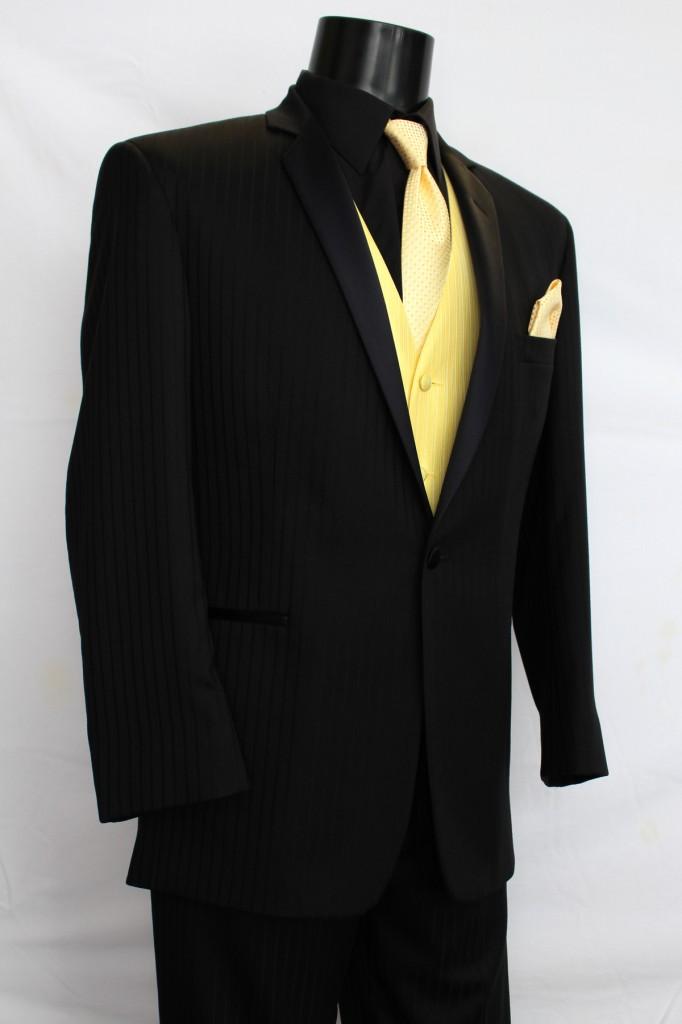 Black tone on tone Tuxedo