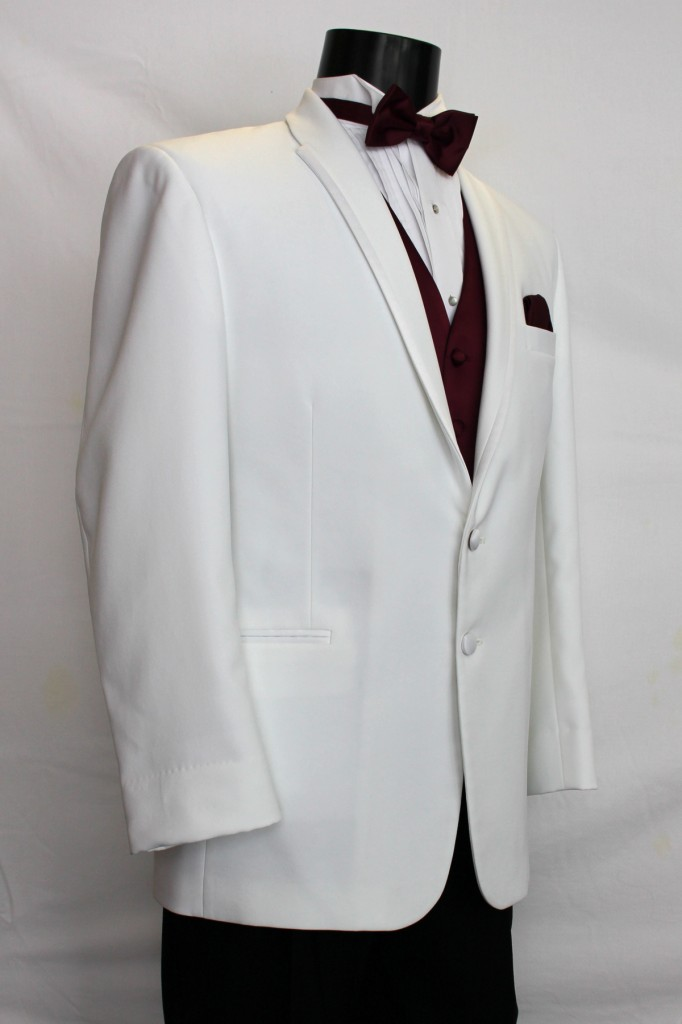 White Tuxedo with Satin Trim